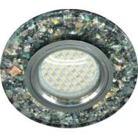 Светильник встраиваемый с белой LED подсветкой Feron 8585-2 потолочный MR16 G5.3 черный