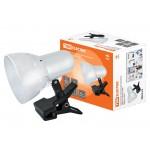 Светильник настольный прищепка 60Вт, E27 белый (мягкая упак.) TDM