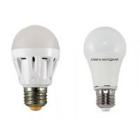 Лампа светодиодная НЛ-LED-A60-12 Вт-230 В-3000 К-Е27, (60х112 мм), Народная
