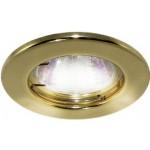Светильник встраиваемый СВ 01-01 MR16 50Вт G5.3 золото TDM