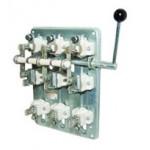 Рубильник РПБ-4/1П У3 TDM (400А,  правый привод, без плавких вставок)